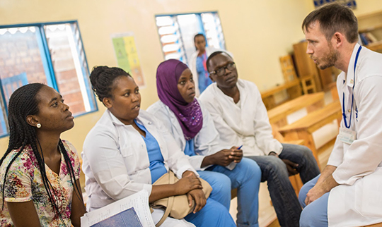 From the capital city's Hope Africa University, a Christian school, young doctors—including this Muslim student from Tanzania--have come to train under Kibuye Hope's Dr. Jason Fader.